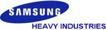 the Samsung Heavy Industries (SHI) company logo